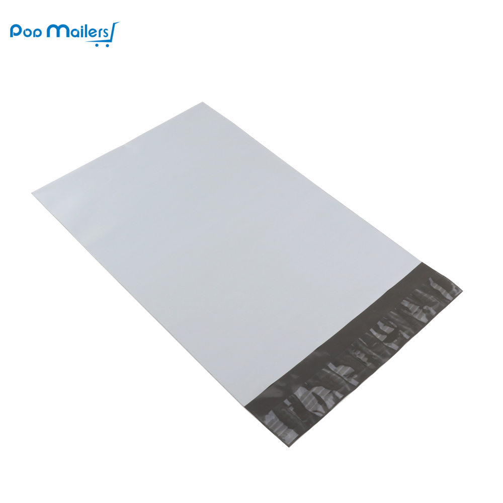 "100 Count 6 ""x9"" / 152x229mm White Poly Mailer Envelopes, Easy Peel"