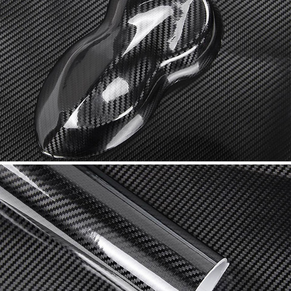 Image 4 - 50CMx200CM High Glossy 6D Carbon Fiber Vinyl Wrapping Film Car Appearance decoration Motorcycle Tablet Stickers Car Styling-in Car Stickers from Automobiles & Motorcycles