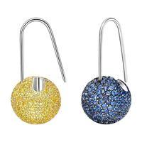 Colored Crystal Fruit drops Candy Zircon Ball Earrings Mixed Pink Blue Green Inlay Zircon CZ Earrings Fashion Women Jewelry