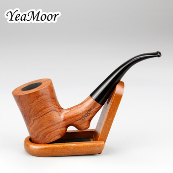 Najwyższej klasy fajka z palisandru z drewniany stojak nowe różane drewno rura 9mm filtr fajka do tytoniu uchwyt dym zestaw tanie i dobre opinie YeaMoor M-213-Stand Rosewood