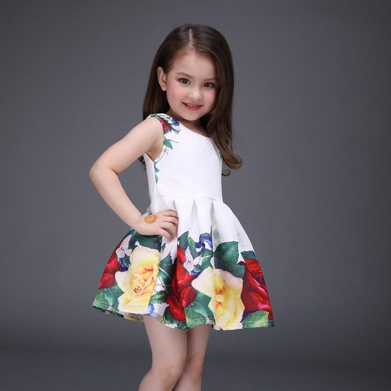 2019 여자 드레스 여자 여름 높은 등급 웨딩 드레스 - 아동복