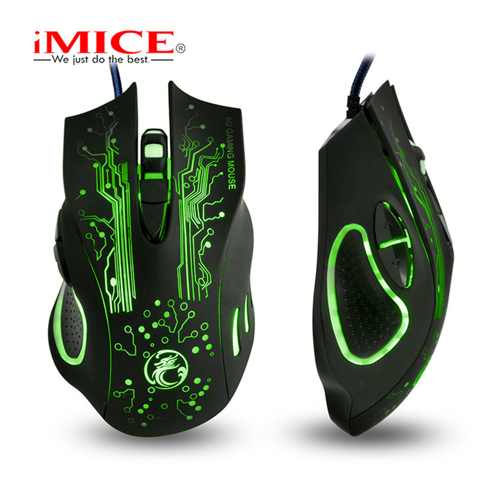 Image 2 - iMice X9 Gaming Mouse Wired Computer Mouse USB Silent Gamer Mice 5000 DPI PC Mause 6 Button Ergonomic Magic Game Mice for Laptop-in Mice from Computer & Office