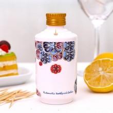 Creative maotai wine bottle modelling press type automatic toothpick extinguishers holder 12*5.5*5.5CM