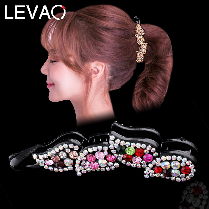 LEVAO Leaves Banana Hair Claws Barrette Women's Hair Accessories Twist Hairpin Ponytail Clamp for Girls New Year Gift Head Clips