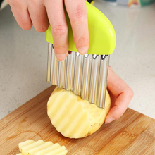 Potato Wavy Edged Tool Peeler Tools kitchen knives Accessories Stainless Steel Kitchen Gadget Vegetable Fruit Cutting