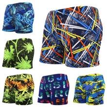 Быстросохнущие мужские модные плавки, боксёры для плавания с цветочным принтом купальники сексуальные пляжные шорты с низкой талией трусы