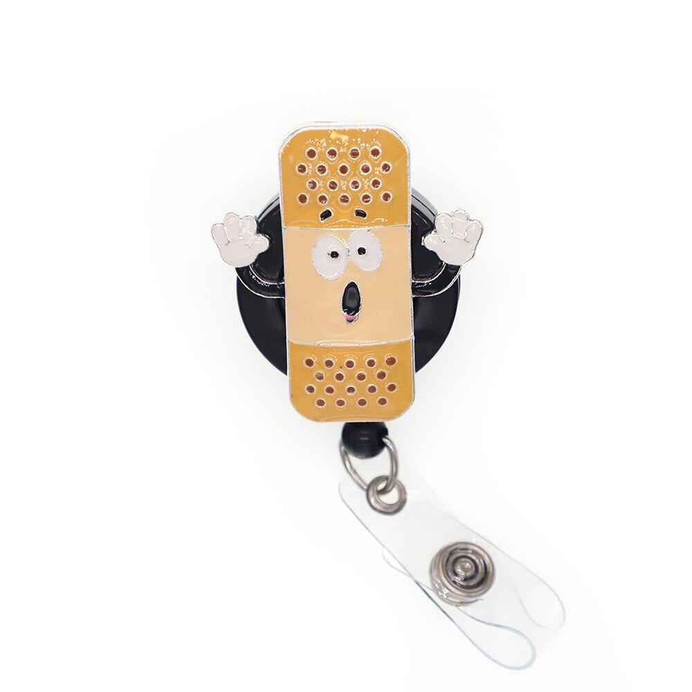 Date strass médical infirmière angle/pilule/trousse de premiers soins/rétractable id badge titulaire bobine pour médecin/infirmière cadeaux