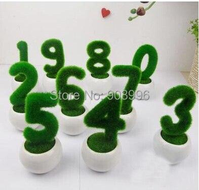 Искусственный цветок цифровой моделирование горшки завод и ваза комплект мини бонсай главная декоративный цветок ну вечеринку украшения подарок