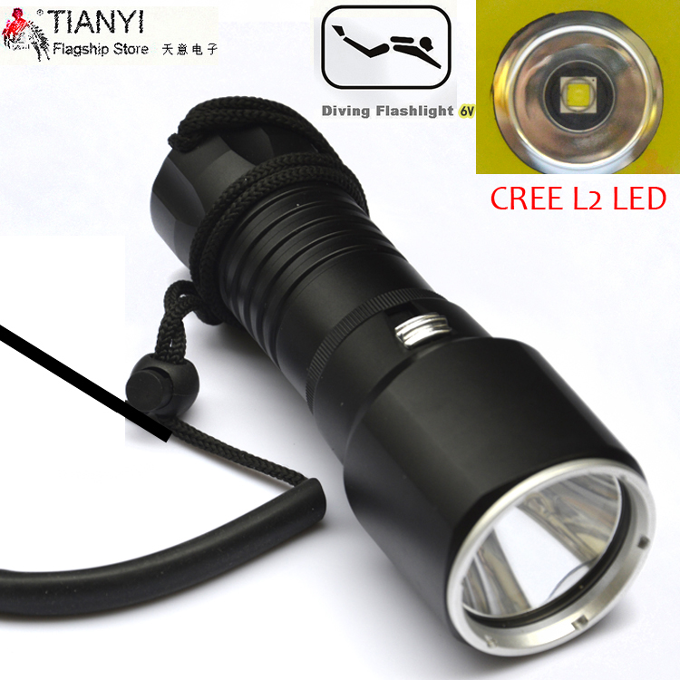 Diving light LED diving flashlight CREE L2 LED Underwater Flash light Lamp Torch Diving Torch Diver flashlight 3800 lumens cree xm l t6 5 modes led tactical flashlight torch waterproof lamp torch hunting flash light lantern for camping z93