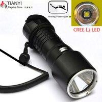 LED diving flashlight CREE L2 LED Diving light Underwater Flash light Lamp Torch Diving Torch Diver flashlight 3800lm hig light
