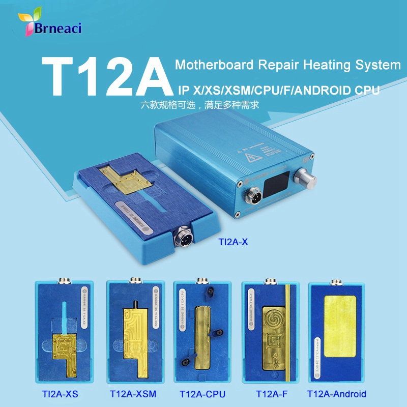 T12A Desoldering station For iPhone X XS XSMAX CPU NAND Main board touch soldering tools set