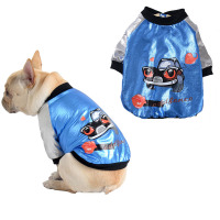 Fashion Dog Clothes Autumn Winter Thickening Warm French Bulldog Clothes Cool Shine Pet Dog Clothing For Small Dogs