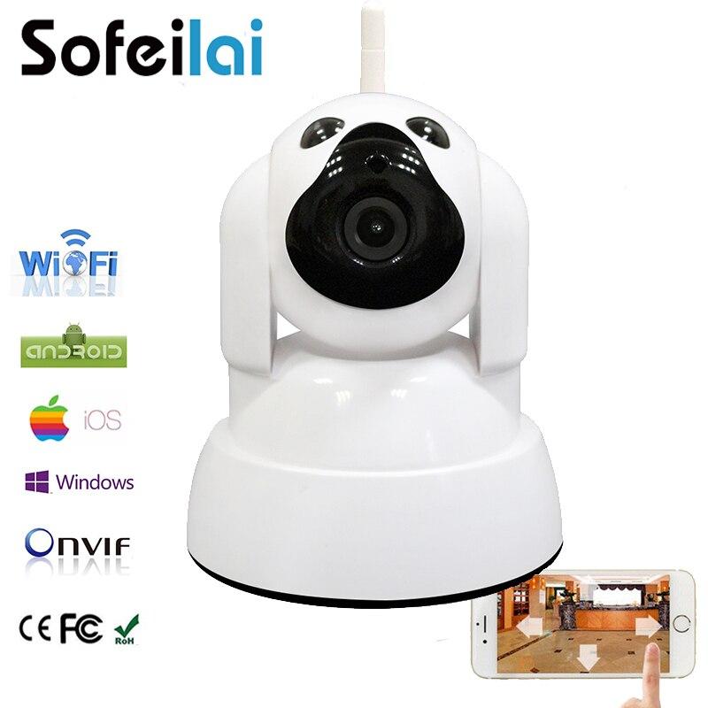 imágenes para 720 P HD WIFI cámara IP inalámbrica de infrarrojos pan tilt sd onvif tarjeta de inicio de seguridad cctv camara mini motion alarma p2p cámaras yoosee
