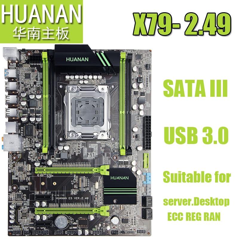 HUANAN X79 2011 DDR3 PC placas de escritorio ordenador placas base conveniente para servidor ECC REG RAM
