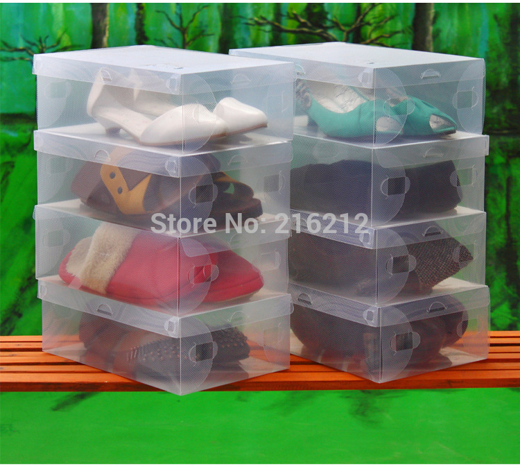 Household Men Transparent Clear Shoe Storage Organizer Box Shoes Case jk17