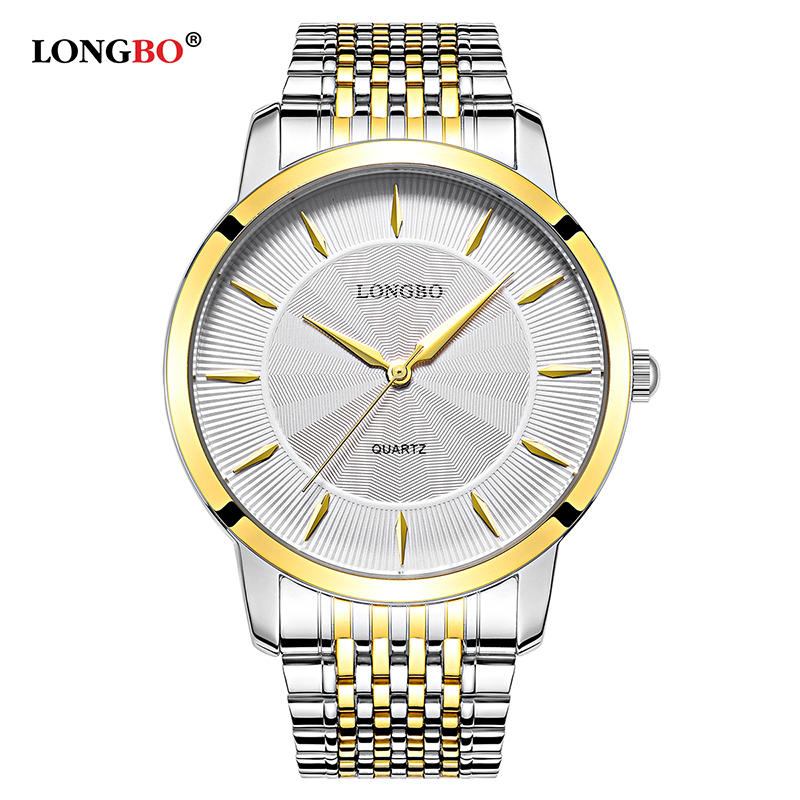 LONGBO Quartz Watch Lovers Watches Gifts Couple Analog Watches Steel Business Wristwatches Women Fashion Casual Watches 80283