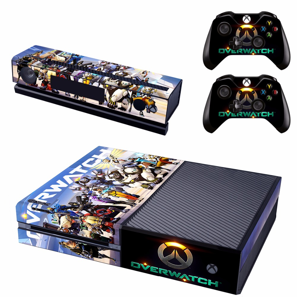 Game For Overwatch Skin Sticker Decal For Microsoft Xbox One Console and 2 Controllers For Xbox One Skins Stickers Vinyl
