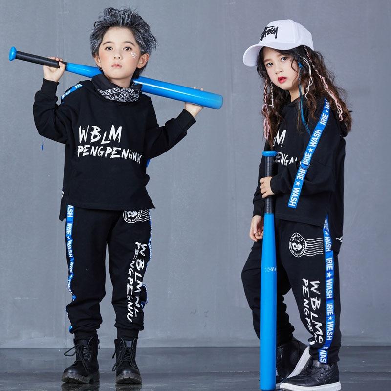 Lente Herfst Mode Hip Hop Kostuum Dans Jazz Danst Kids Jongens Set Street Dance Kleding Kinderen Stage Performance Slijtage
