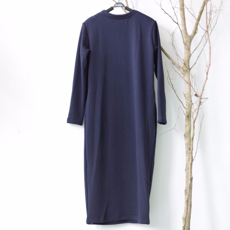 SCUWLINEN Winter Dress 17 Vestido Women Dress Plus Size Velvet Thickening Thermal Basic Dress Long Sleeve Solid Warm Dress S59 21