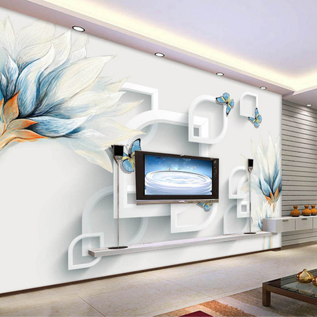 Modern Custom Decorating 3d Wallpaper Fashion Life Home Decorating Wall  Mural Simple Light Color 3d Effect