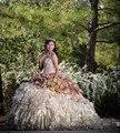 Real photo 2017 quinceanera vestido em camadas ruffles querida decote tulle longo sweet 16 anos vestidos de festa vestido de 15 años
