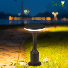 Waterproof IP65 Concrete Install Aluminum  Outdoor Lighting Garden Plaza Bollard Lawn Light Landscaping