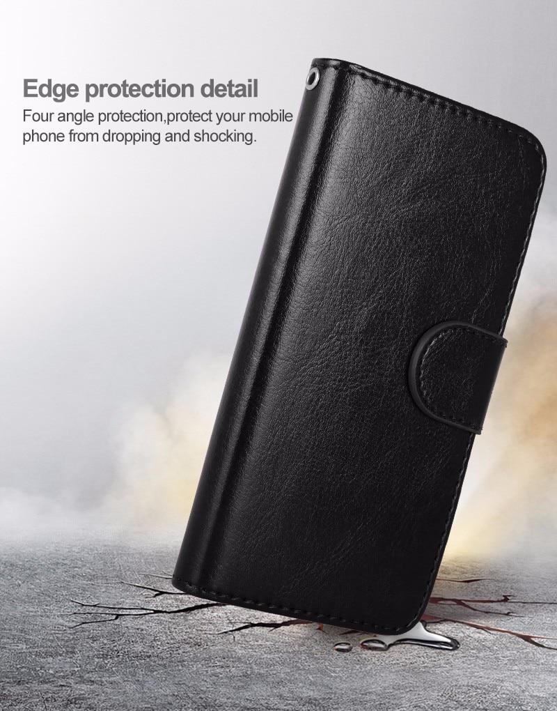 LANCASE Untuk iPhone 6 Kasus Kulit 2 in 1 Magnetic Dilepas Flip Cover - Aksesori dan suku cadang ponsel - Foto 4