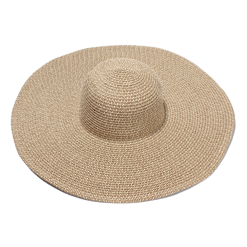 Women Large Brim Sun Hats 2017 Summer New Ladies Foldable Beach Straw Hat For Holiday Chapeu Feminios