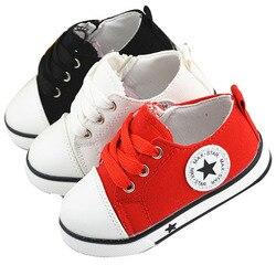 2018 venda quente crianças moda tênis casuais sapatos de lona para meninos meninas ao ar livre rendas até sapatos casuais tamanho 21-25