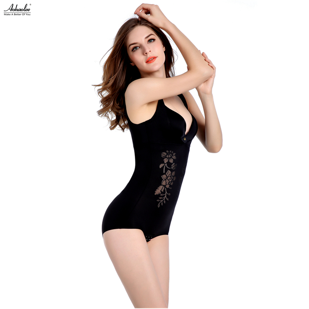 fceadf5680692 Aohaolee Women Seamless Floral Underwear Firm Tummy Control Bodysuits Body  Shaper Romper Briefer Butt Lifter Slimming Shapewear -in Bodysuits from  Women s ...