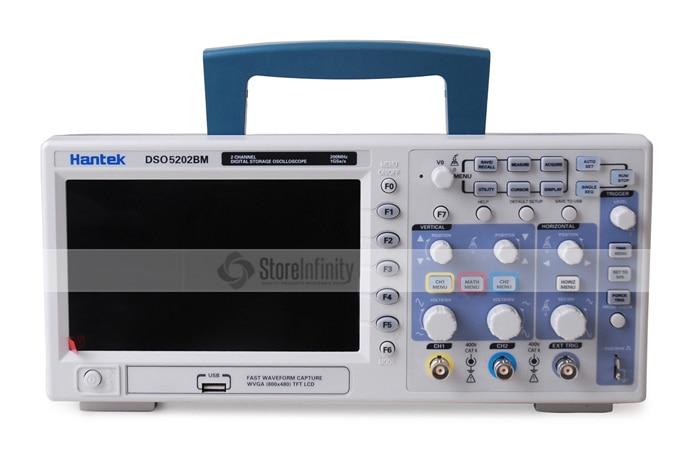 Hantek DSO5202BM Digital Automotive Oscilloscope USB Lcd Display Benchtop Osciloscopio 200MHz 2 Channels 1GSa/s Logic Analyzer