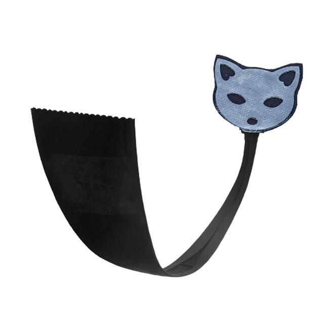 Originales de las mujeres atractivas de la ropa interior invisible c-string thong underwear bragas bragas de las mujeres cabeza de gato en forma de auto-adhesivo tanga