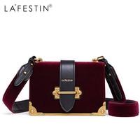 LAFESTIN Hot 2017 Women Shoulder Bag Velvet Designer Handbag Women Brands Luxy Crossbody Luxy Bag Bolsa