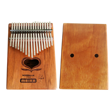 MUKU  Kalimba Dibetou African Thumb Piano Finger Percussion Keyboard Kids 17 key instrument