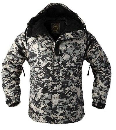 """Премиум """"SouthPlay"""" Зимний Сезон Водонепроницаемый 10000 мм согревающие лыжные и сноубордические коричневые Camoflage куртки - Цвет: Black Camo Jacket"""
