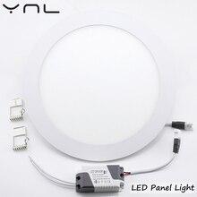 220V LED Panel light Round lamp 3W 4W 6W 9W 12W 15W 18W led downlight High brightness spot light
