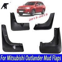 Mitsubishi outlander 용 자동차 머드 플랩 2013 2014 2015 전면 리어 몰드 머드 플랩 스플래쉬 가드 머드 플랩 머드 가드 펜더