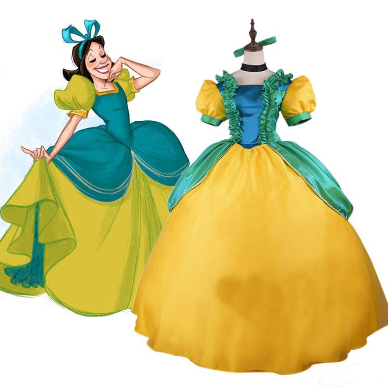 Cinderella Evil Sisters Stepsister Drizella Dress Cosplay Costume Halloween Carnival Party Dress Costume Custom