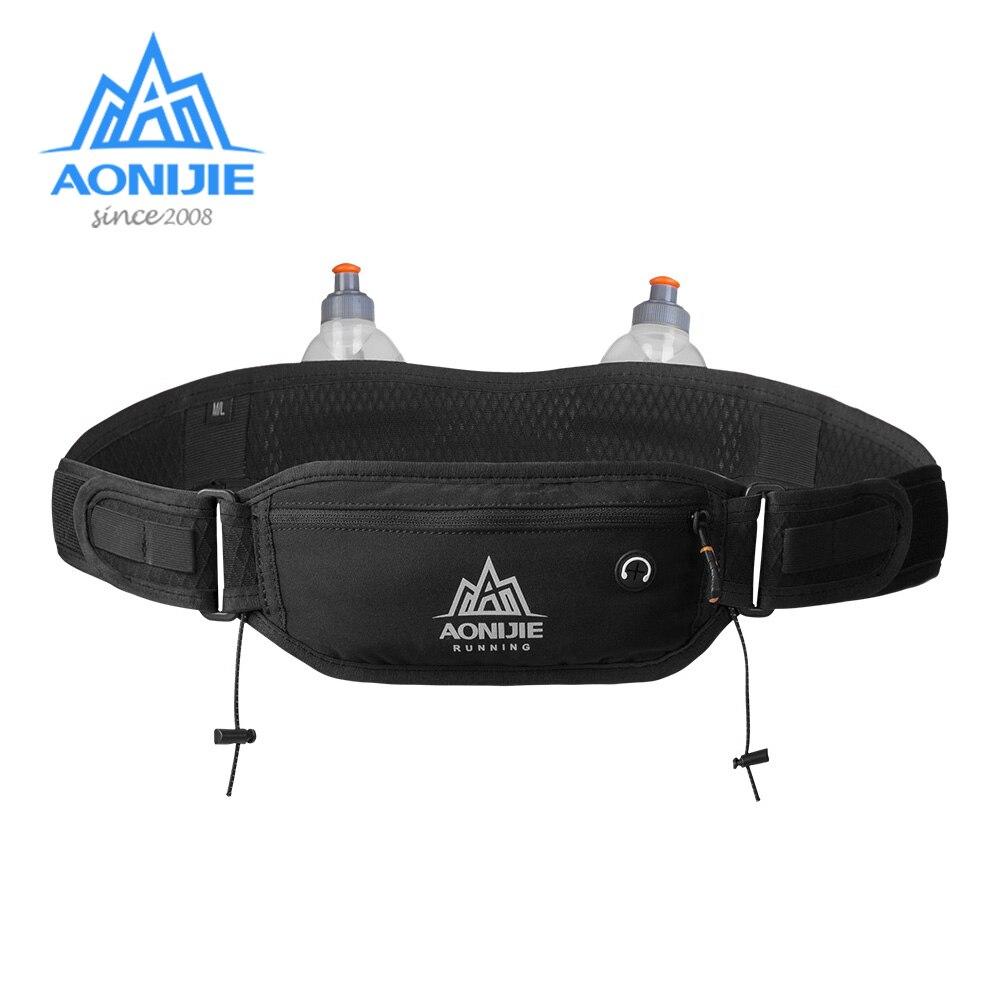 AONIJIE Waist Bag Phone Holder With 2 Pcs 250ml Water Bottles Marathon Running Hydration Belt