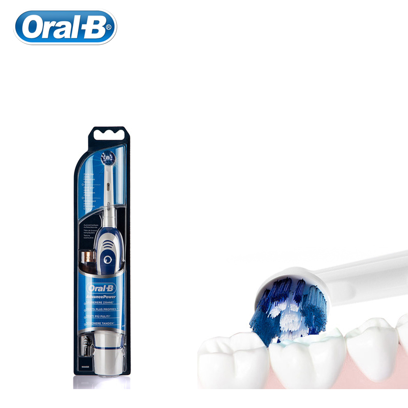 Original Oral B Electric Toothbrush Deep Clean Portable with One Replaceable Brush Head Powered by 2 AA Battery image