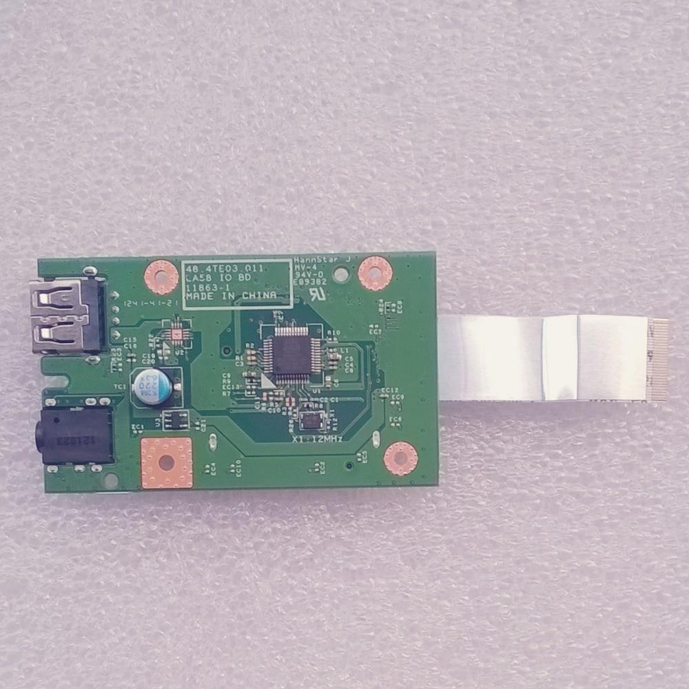 New Original LA58 CardReader Board w/Cable For Lenovo B580 B590 v580C Series,FRU 90000572 48.4TE03.011 55.4XH04.001 new original audio sd card reader board w cable for lenovo g480 g485 series p n ls 7986p nbx00015700