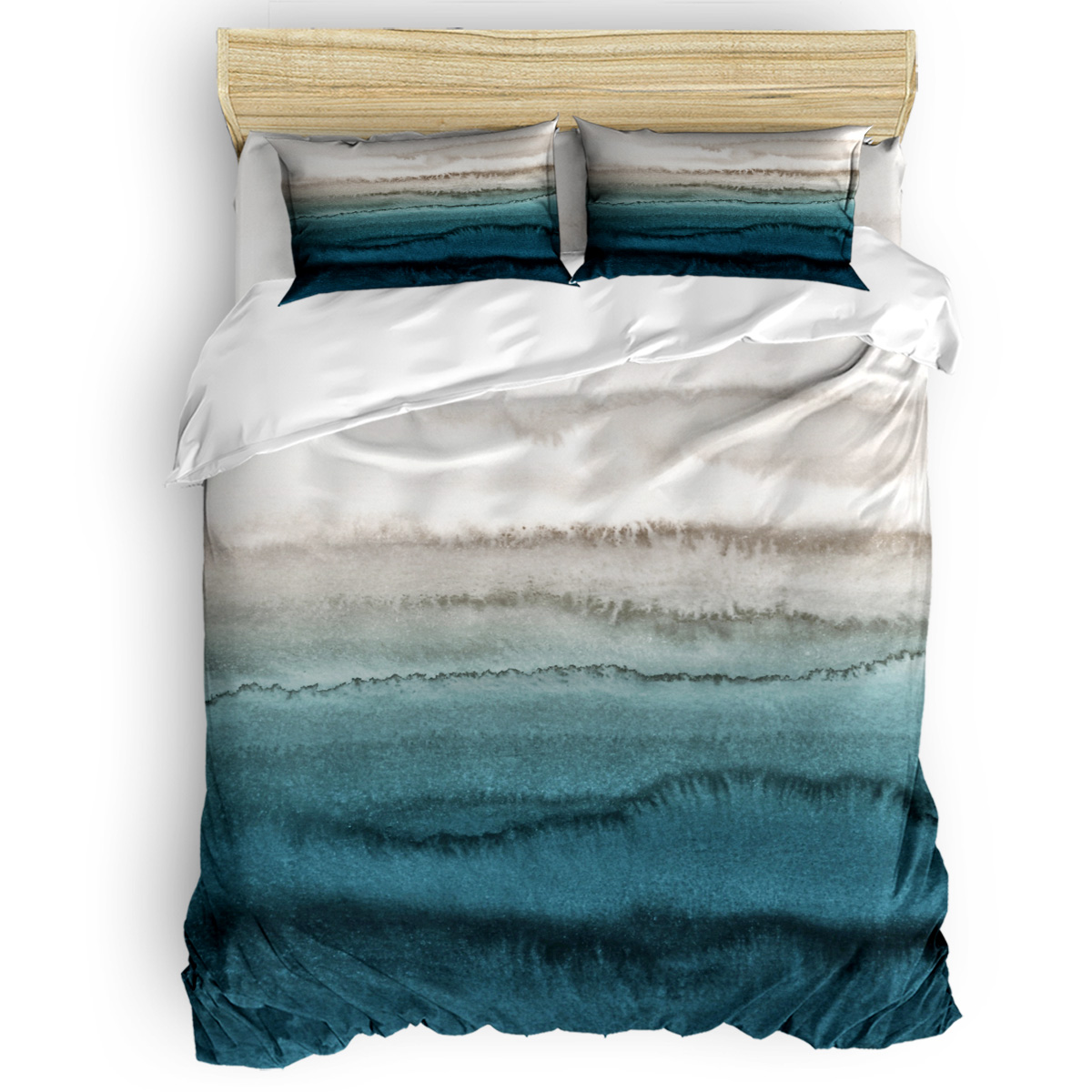 Picture of: Within The Tides Crashing Waves Teal Duvet Cover King Size Queen Size Quilt Cover Set Bedclothes Comforter Single Bedding Sets Bedding Sets Aliexpress