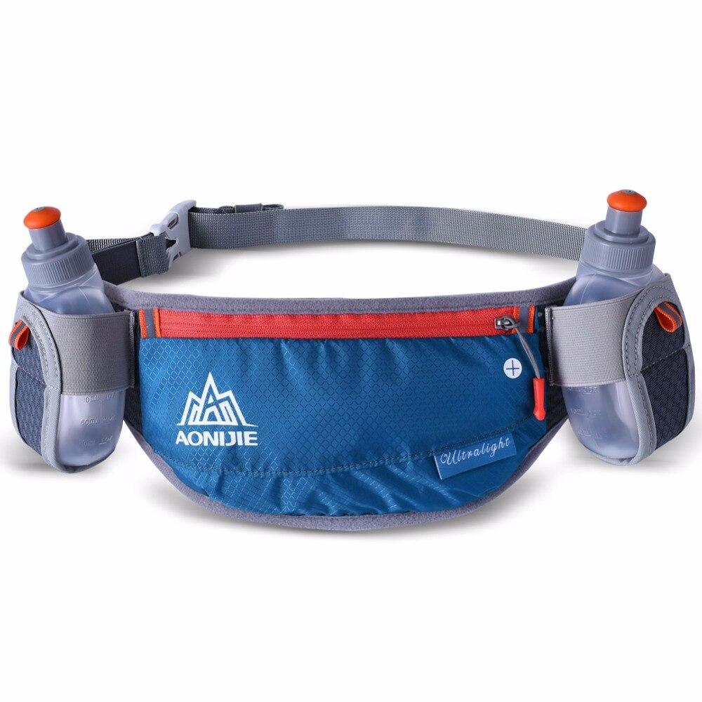 Бег гидратации Ремни ремень, держатель для бутылки Светоотражающие проточной водой пояс поясная сумка Для мужчин Для женщин два Размеры Та...