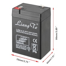 LiangTe Storage Batteries 6V 4.5Ah lead acid battery rechargeable battery for the LED flashlight desk lamp lighting battery