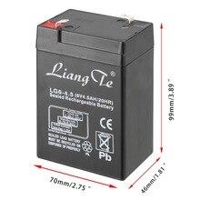 Recarregável de Chumbo Principalmente para a para a Lanterna Liangte Baterias 6 V 4AH Bateria Ácido de Armazenamento Lanterna LED Iluminação Lâmpada Mesa DA
