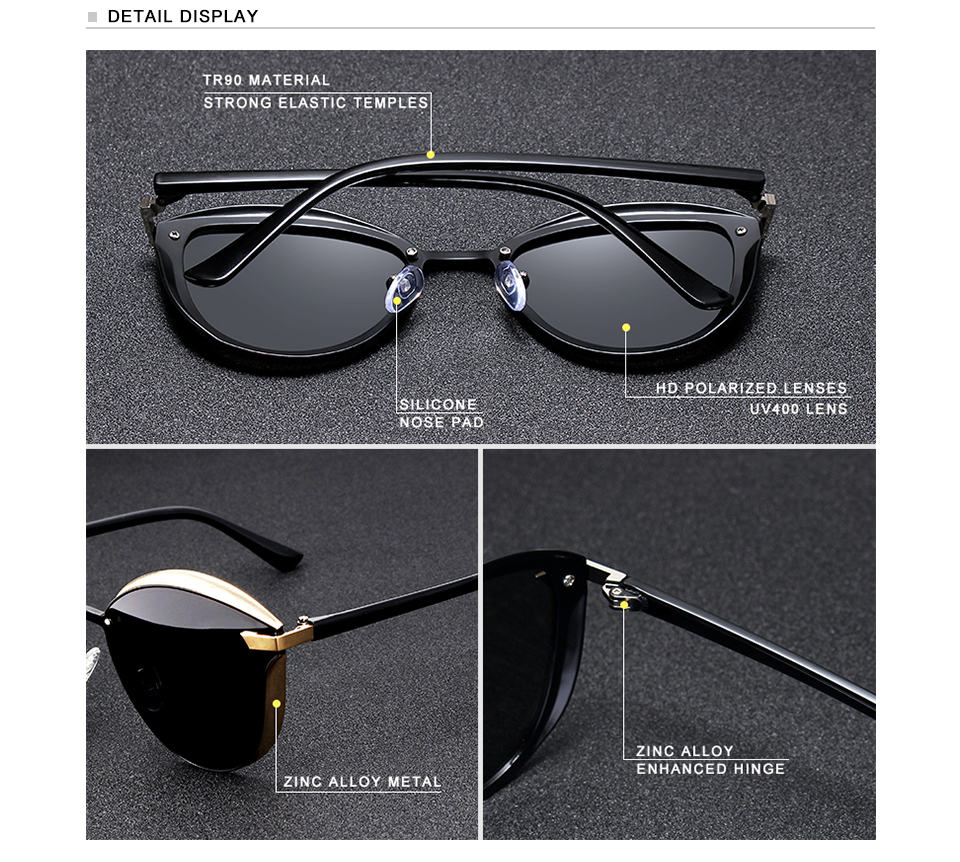 Women Luxurious Cat Eye Sunglasses N7824