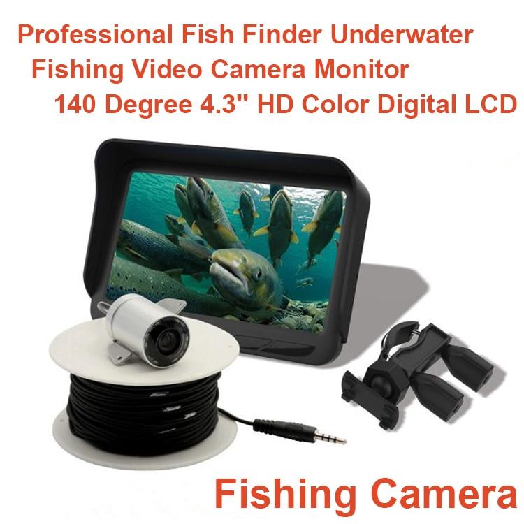 Berufs Fish Finder Unterwasser-fischen-videokamera Monitor 140 Grad 4,3 ''HD Farbe Digital LCD Fish Kamera Für Angeln
