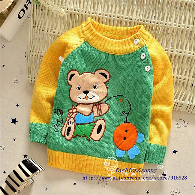 Free shipping Autumn New children cartoon sweater,baby boy and girl pullovers,kid sweaters#Z1258B
