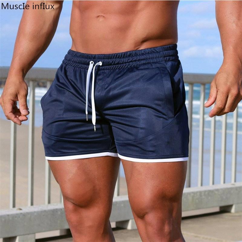 2019 Summer Running Shorts Men Sports Jogging Fitness Shorts Bodybuilding Mens Gym Men Shorts Crossfit Sport Gym Short Pants Men