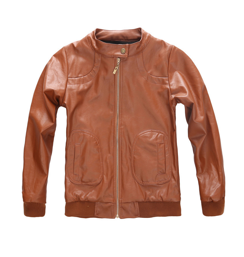 Kids Brown Leather Jacket - JacketIn